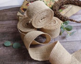 5cm*10m  Natural Jute Burlap Ribbon Fabric Roll Hessian Trims Tape Rustic JS