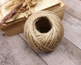 4 Metres x Brown Craft Rope Ribbon String Natural  Wedding Rustic KRAFT