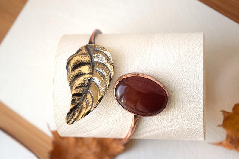 Hellenic Bracelet,Copper/&Bronze Bracelet,Adjustable Bangle Bracelet for Women Gemstone Metal Bracelet Agate Birthstone Bracelet