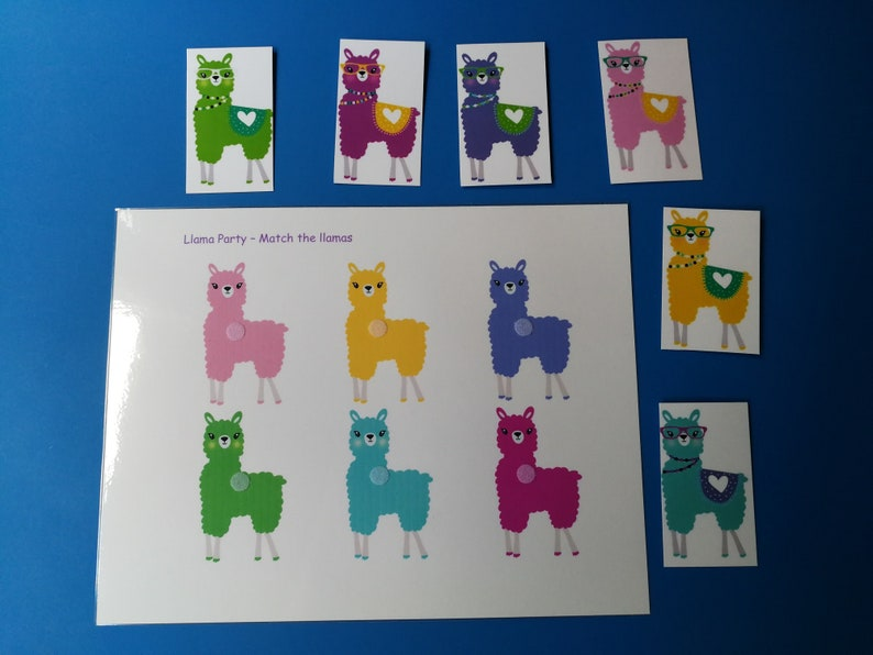 Llama Party Matching Game image 0