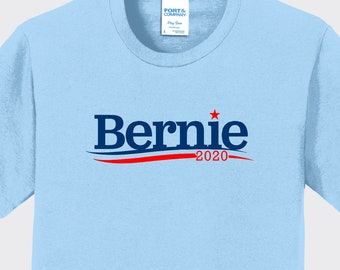 Election 2016 Bernie Sanders Hair Minimalist Military Green Adult T-Shirt