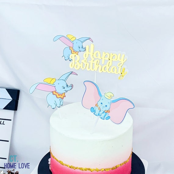 Awesome Dumbo Happy Birthday Cake Topper Dumbo Cupcake Toppers Etsy Birthday Cards Printable Trancafe Filternl