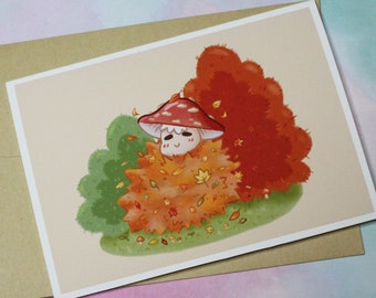 Mushroom Fall Greeting Card