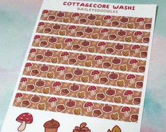 Cottagecore Washi Sticker Sheet