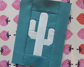 Cactus Foundation Paper Piece Modern Quilt Block