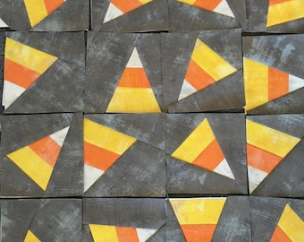Candy Corn Foundation Paper Piece Quilt Blocks (4)
