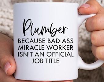 New Job Funny Thank You Presents for Plumbers F*cking Legend Plumber Gift Mug