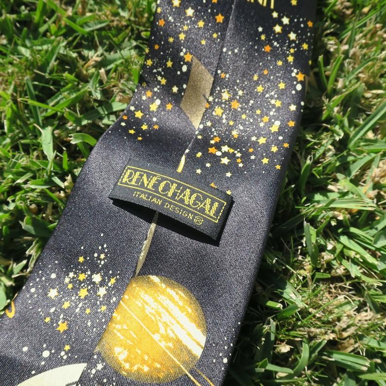 cars planets cool unique excentric tie retro Millenium 2000 00/'s vintage new year necktie cosmic planet city tie