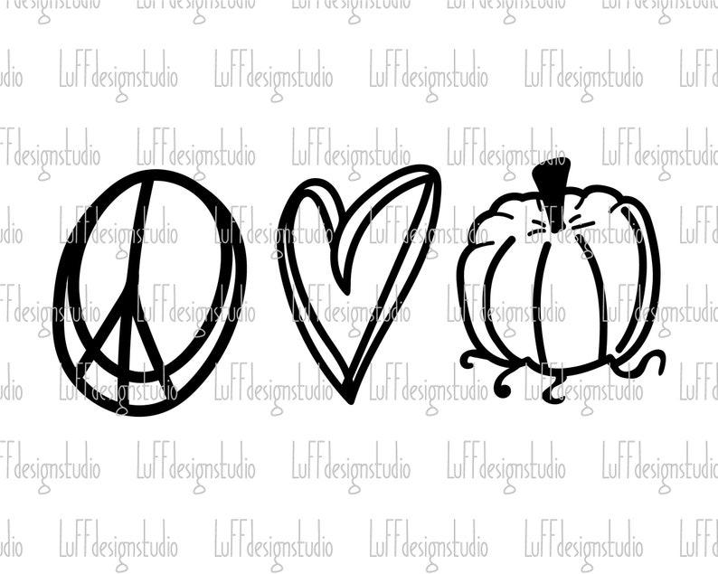Download Peace Love Pumpkin SVG Peace SVG Pumpkin SVG Thanksgiving ...