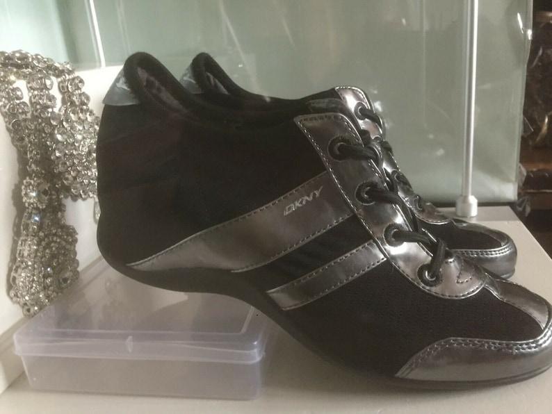 WomensLadies DKNY Wedge Tech TrainersPumpsSneakersComfort Boots UK4  EU 37 US 6