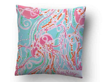 5bf3ad8d5d4338 Lilly Pulitzer Jellies Be Jammin Throw Pillow Decoration Decorative Wedding  Cushion Cover Case
