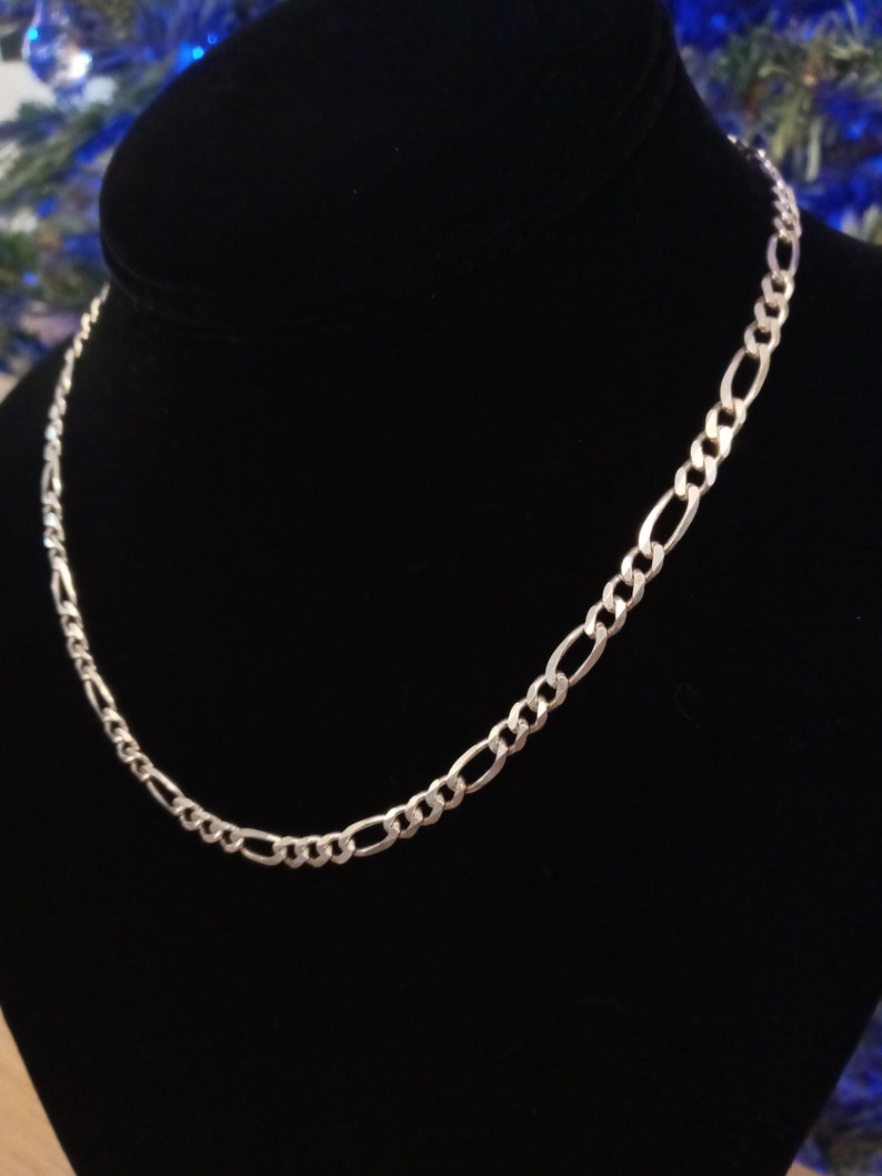 Figaro Sterling Silver chain