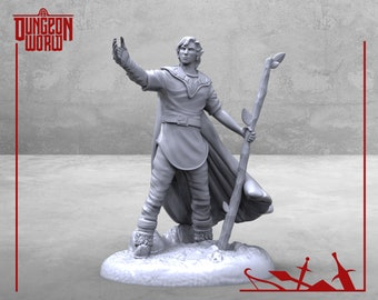 32mm Half Elf Druid for Dungeons and Dragons   D&D   Pathfinder   RPG   5e   DnD   Tabletop Games   Wargames   Resin Miniature   M3DM