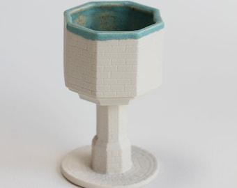 Handmade White Glaze Porcelain Chalices   Ceramics   Ceramic Chalices   Ceramic Cups
