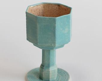 Handmade Blue Glaze Porcelain Chalices   Ceramics   Ceramic Chalices   Ceramic Cups