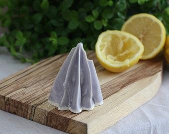 Handmade Soft Lavender Porcelain Citrus Juicers   Lemon Juicers   Citrus Juicers   Handmade Ceramics   Foodie Gifts   Kitchen Utensils