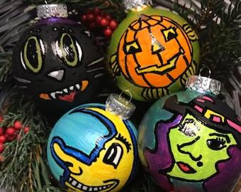 Halloween Ornaments Spooky Christmas Ornaments Vintage Halloween Characters Halloween Decor Halloween Gifts Christmas Decor Christmas Gifts