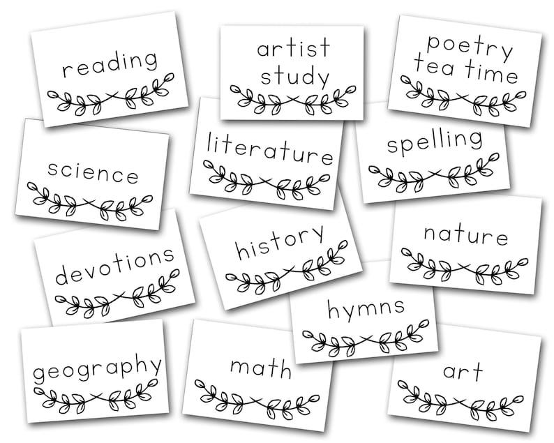 Homeschool Schedule Cards image 0