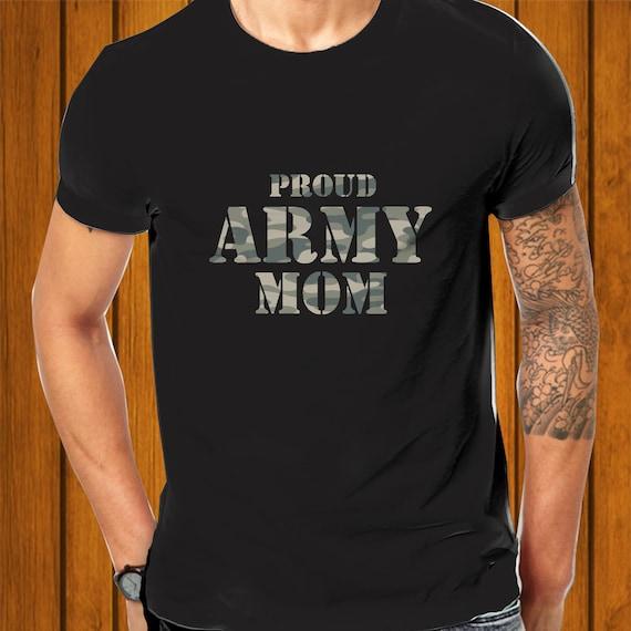 Proud Army Mom Camiseta Puerto Rico Frases Bandera Orgullo