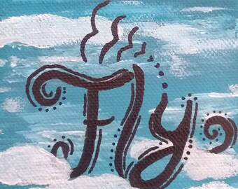 Fly - mini canvas painting