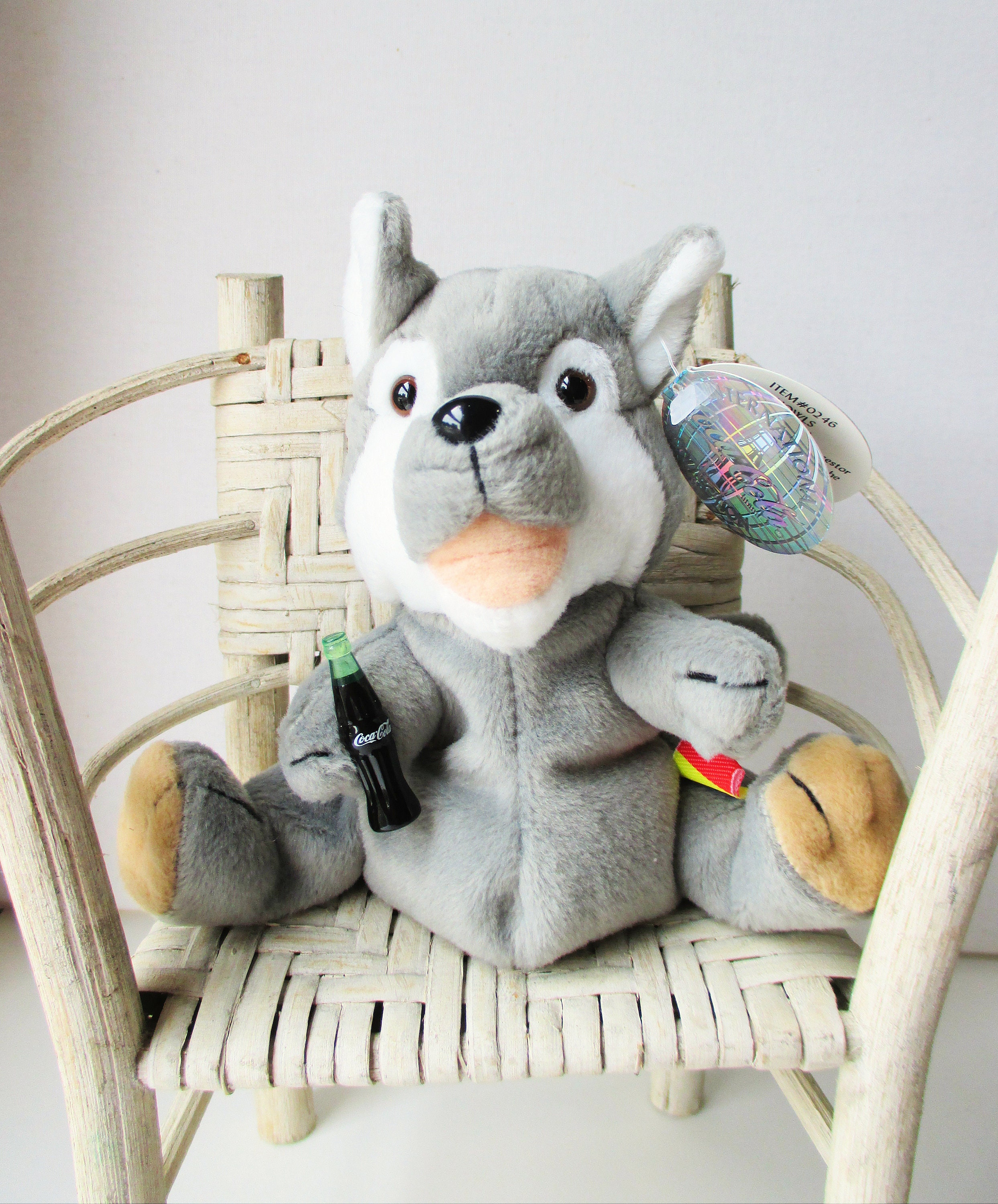 Magnificent Vintage Coca Cola Bean Bag Plush Howls The Grey Wolf 1999 Retired International Collection Representing Romania Squirreltailoven Fun Painted Chair Ideas Images Squirreltailovenorg