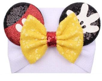 Mickey Cut Out Felt InfantToddler Nylon Headband
