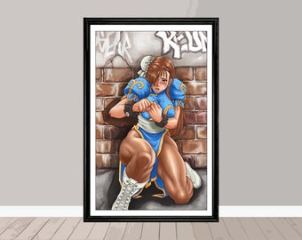 Street Fighter 11x17 Inch Print (Signed)