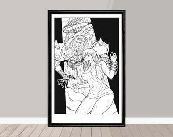 Zombie Cyberfrog 11x17 Inch Print (Signed)