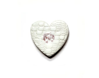 Heart - ceramic wall hanging by Franko B, contemporary / art sculpture
