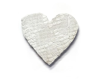 Heart - ceramic wall hanging by Franko B, contemporary art / sculpture