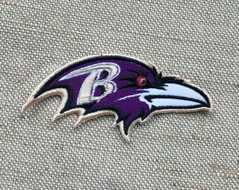 01369263376f89 Baltimore Ravens Patch Iron On Patch - DIY Embroidery Embroidered -  Applique Decorative Patch - Patches Iron On - Saw On Patch