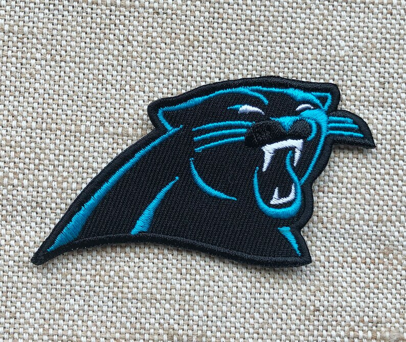 super popular 96b0f ed3ef Carolina Panthers Patch Iron On Patch - DIY Embroidery Embroidered -  Applique Decorative Patch - Patches Iron On - Saw On Patch