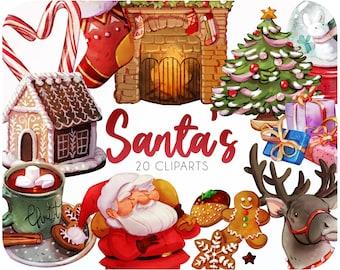 20 Digital clipart Christmas • Christmas tree png • Christmas clipart • Christmas stickers • Xmas cliparts