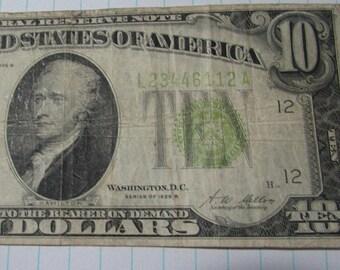 10 dollar bill | Etsy