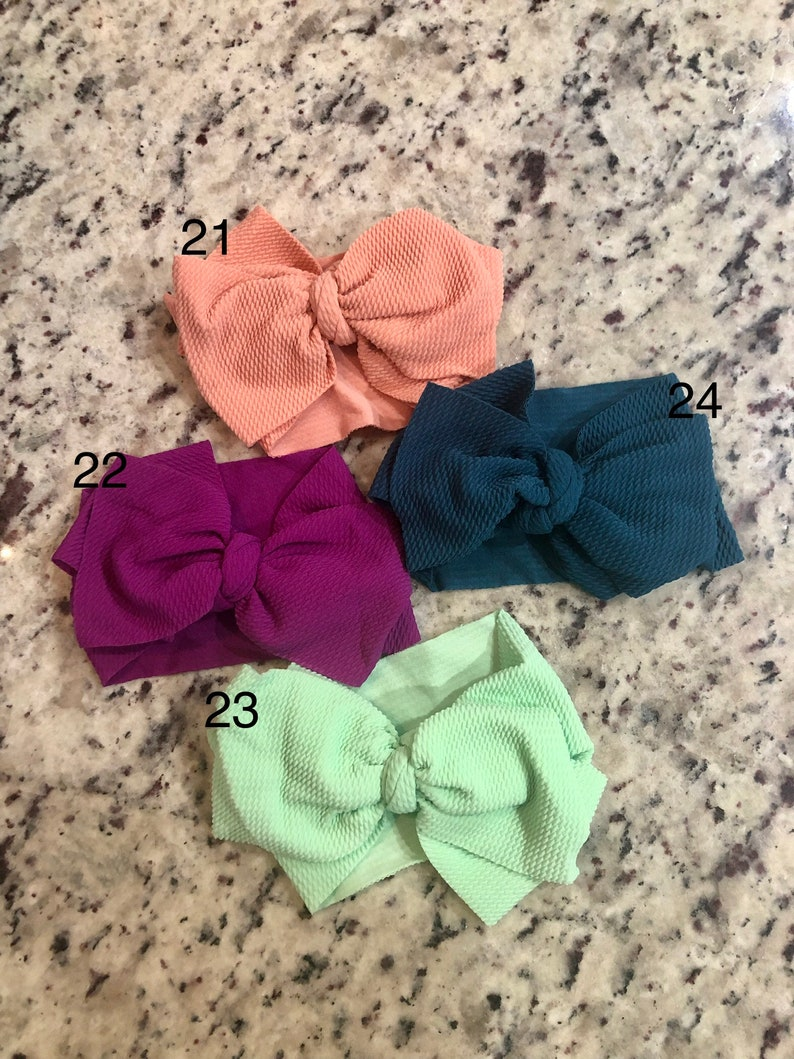 monogram hair bows
