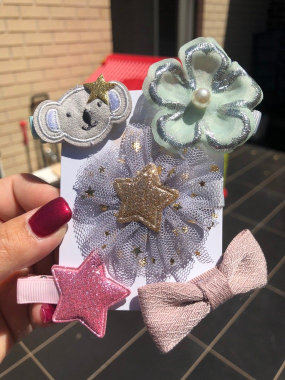 princess hair style kids accessories ChicBaby girls hair clips set 5pk princess hair accessories girls accessories glitter hair clips