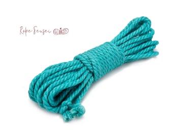 20 metre / 65 feet - Jute Twisted Shibari Bondage Rope - 6mm (Various Colours)