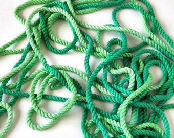 Emerald Ombré Bamboo Twisted Shibari Bondage Rope - 6mm - 10 yards / 9 metres / 30 feet