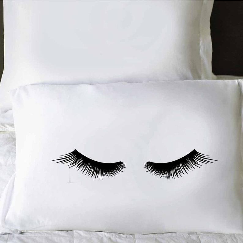 Pillowcase For Her,Shut Eye Pillowcases Eyelashes Pillow Cover Slumber Pillowcase Eyelash Pillowcase Closed Sleepy Eyes Teen Pillowcase