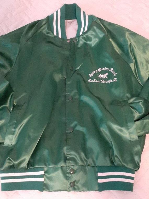 Forest Green Bomber Jacket- Vintage