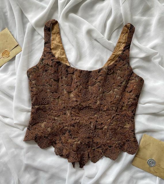 Rare Vintage Gigi Clark corset top, lace, boned, … - image 1