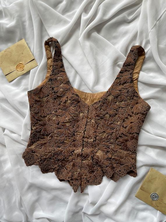 Rare Vintage Gigi Clark corset top, lace, boned, … - image 3