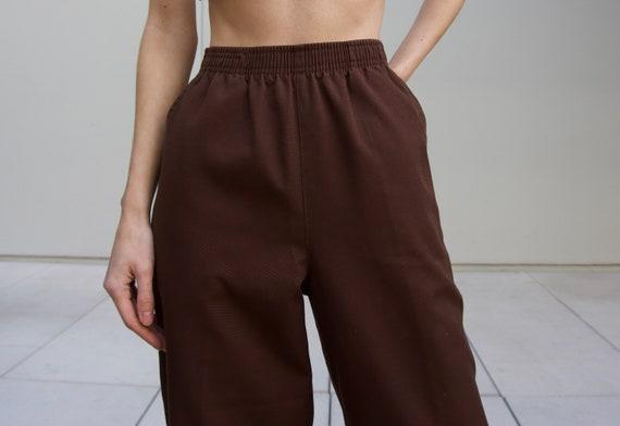 Vintage brown easy pants, size 8 petite //0042