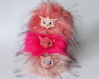 Purring Puffskein | Pygmy Puffs | Appaloosa Puffskein | Fantastic art beast | Fantasy creature toy