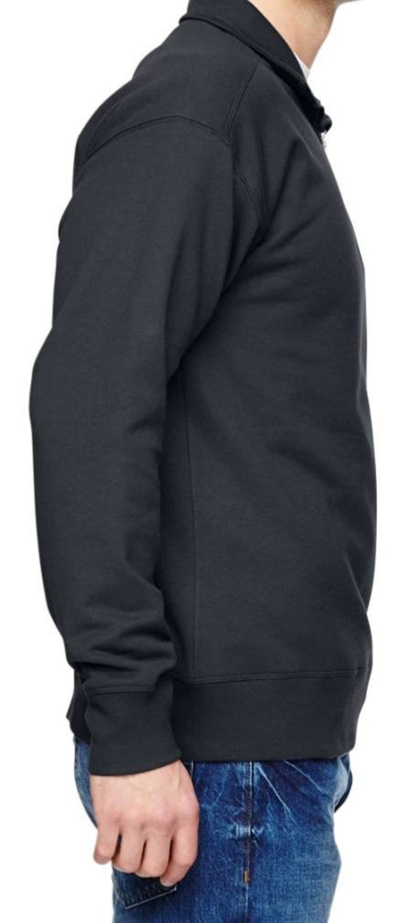 Mens thin blue line flag 34 zip up sweatshirt Police sweatshirt.