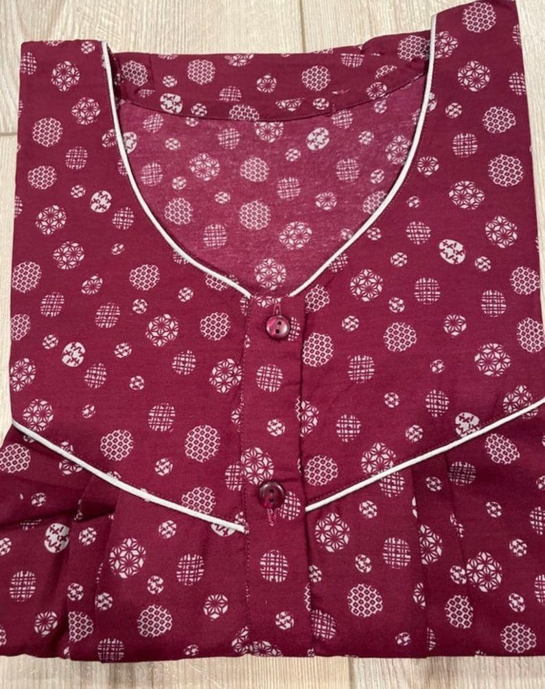 Indian women Spun Nighty Gown bust 46 size  Sleepwear Nightwear nightdress dress nighty regular wear