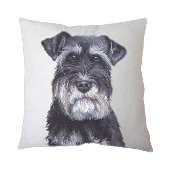 Schnauzer pillow | Etsy