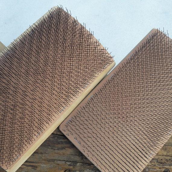 1pc Sheep Wool Blending Carding Combs Spinning Needle Felting Preparation Tool