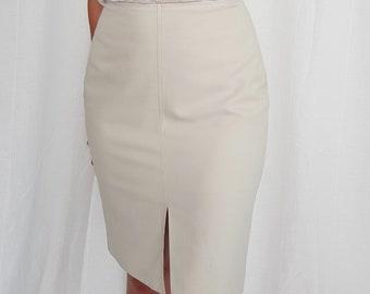 4b7ae0341a Vintage Stone High-Waisted Pencil Skirt