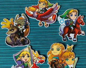 Chibi Legend of Zelda Gloss 10 cm Vinyl Stickers (FREE 1 in. Button with every purchase)